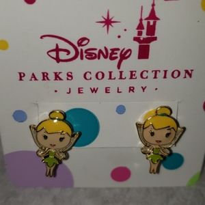 WDW Disney Parks Tinkerbell Tink Earrings NWT